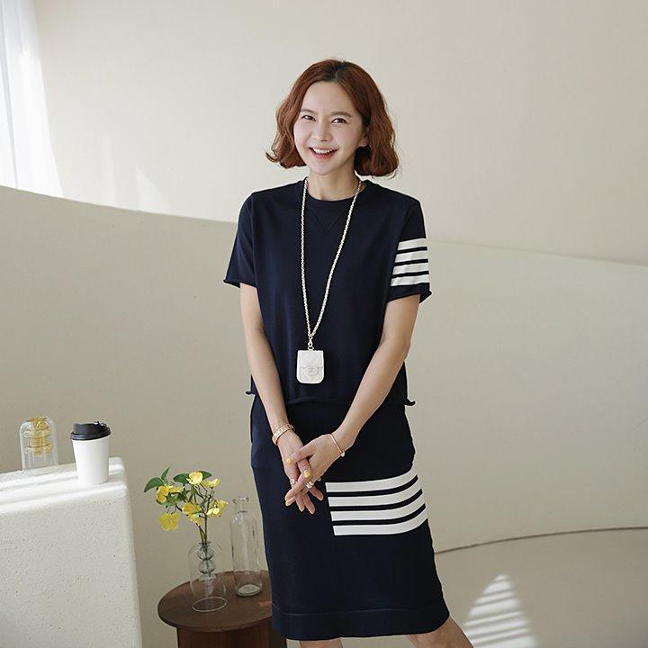 lemite-톰테잎 니트세트(치마+탑)♡韓國女裝套裝