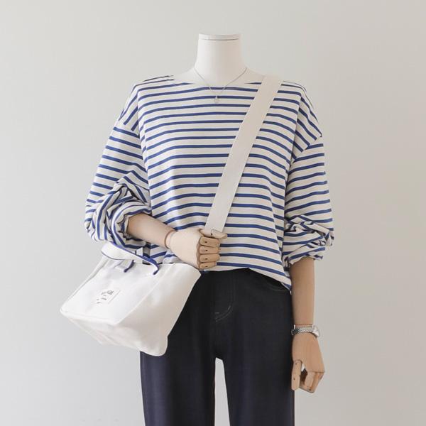 mariangplus-[P] 줄리아 단가라 티셔츠 P_T9839♡韓國女裝上衣