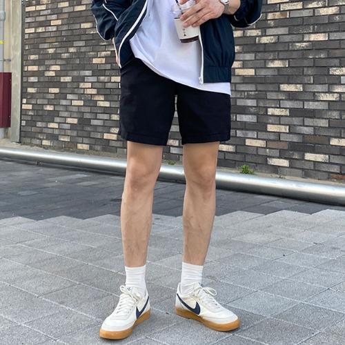 modernsweet-레노 코튼 밴딩 반바지 5color / 강력추천 - 모던스윗(modernsweet)♡韓國男裝褲子