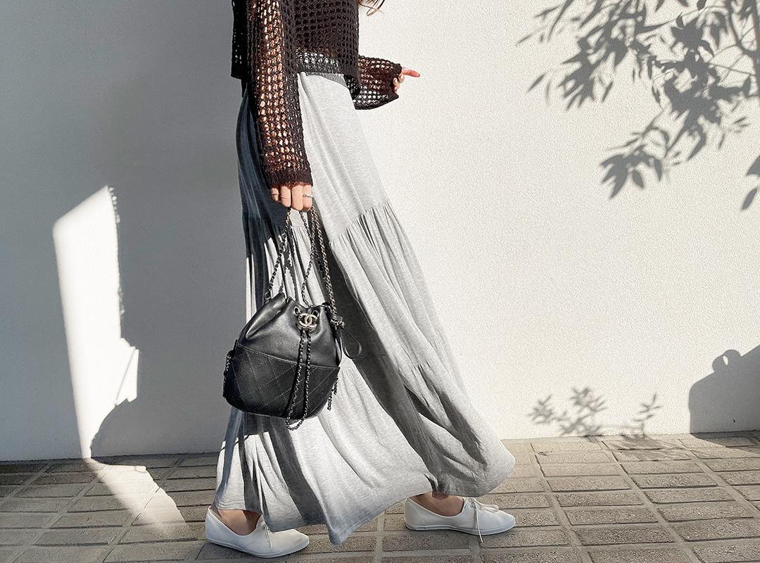 naning9-다닌트 셔링밴딩스커트(C04)♡韓國女裝裙
