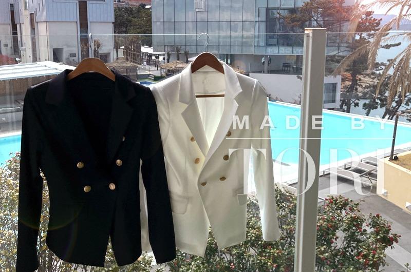 torishop-TORImade 예술핏 새틴골드버튼JK (2color)♡韓國女裝外套