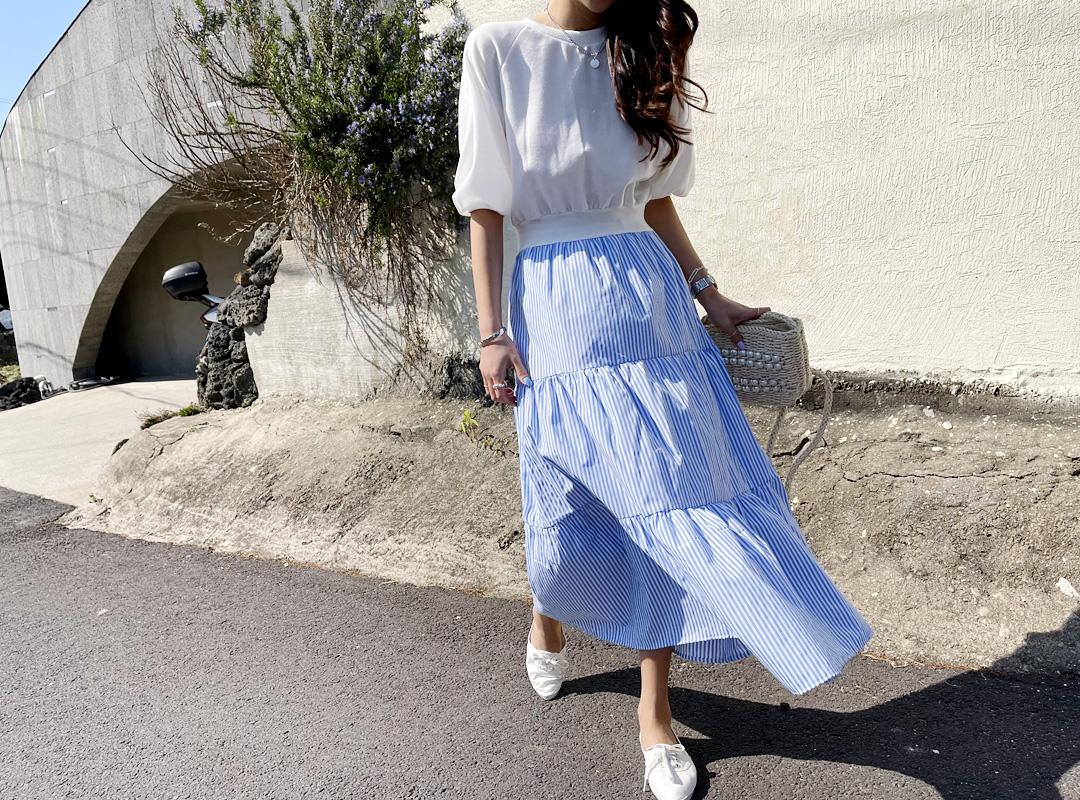 naning9-키치르 배색원피스(C04)♡韓國女裝連身裙
