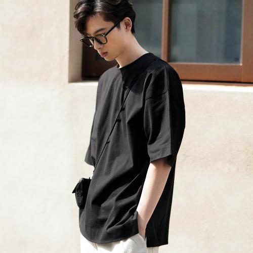 fairplay142-[[4/14배송][제멋] 세티 오버핏 반팔티셔츠 블랙 KJST2344]♡韓國男裝上衣