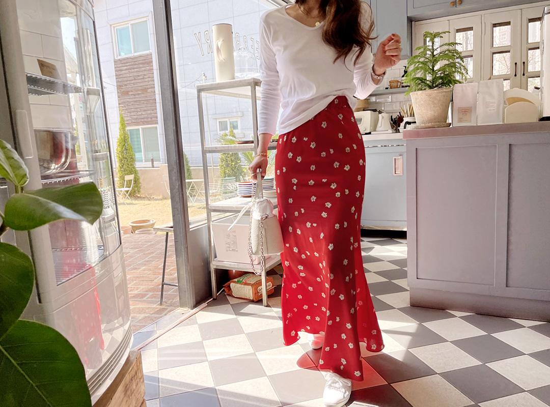 naning9-니스크 플라워밴딩스커트(C04)♡韓國女裝裙
