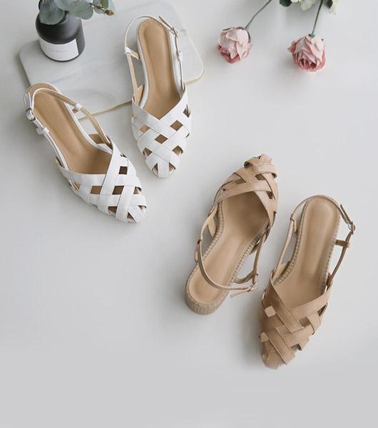 roompacker-룸페커 [로빌 짜임 샌들]♡韓國女裝鞋