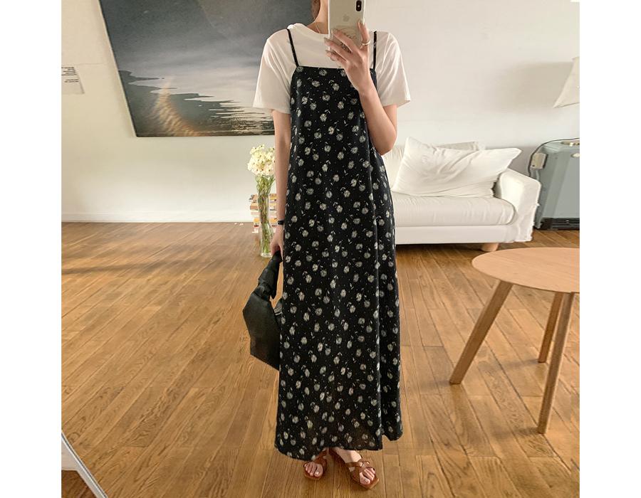 frombeginning-단델리온 뷔스티에원피스 (2color)♡韓國女裝連身裙