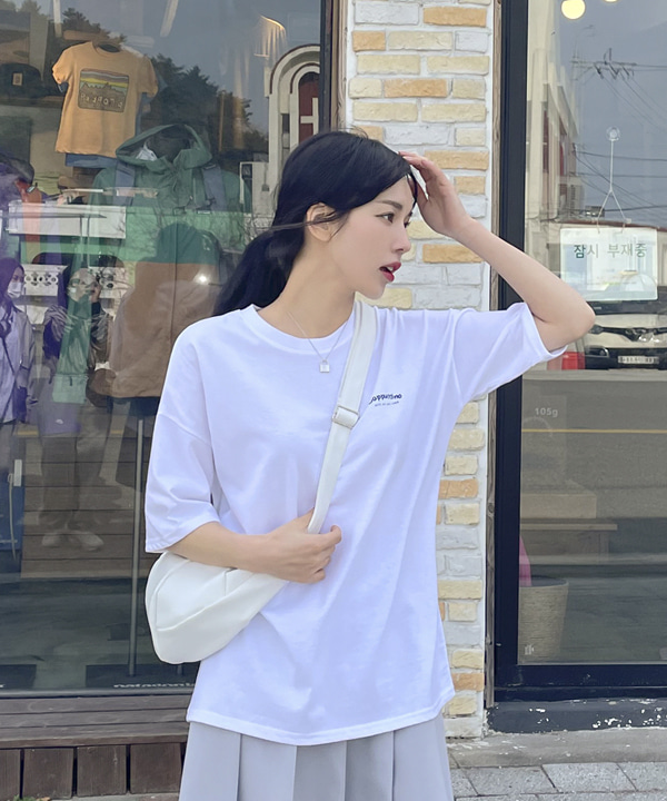 loveloveme-카푸치노 라운드반팔티 | 럽미♡韓國女裝上衣