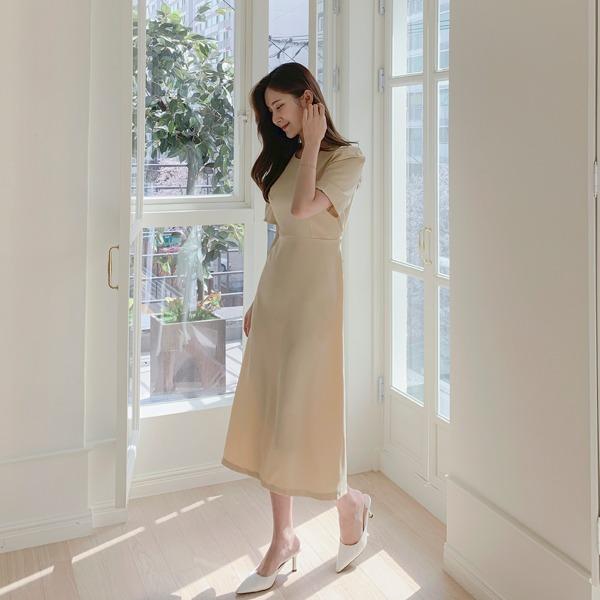 benito-루미나 허리 끈 원피스 신상/베스트/롱/라운드/허리끈/여성/데일리♡韓國女裝連身裙