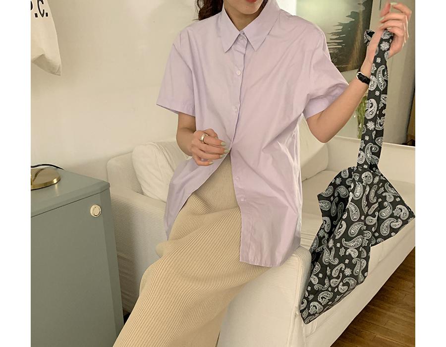frombeginning-마카롱 베이직반팔셔츠 (7color)♡韓國女裝上衣