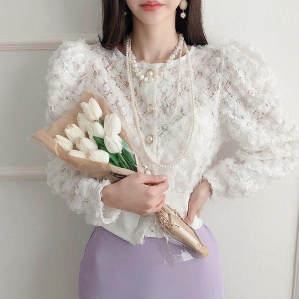 babinpumkin-로즈오브 퍼프 가디건♡韓國女裝外套