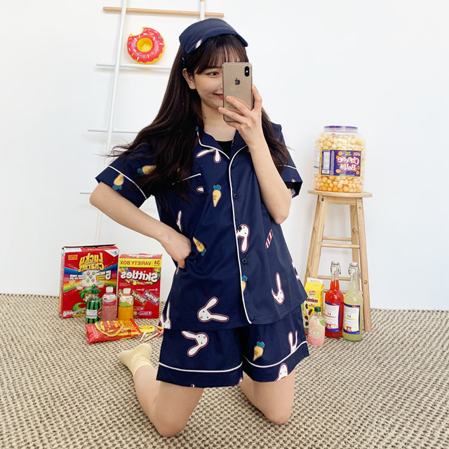 kikiko-토끼야안녕반팔파자마SET♡韓國女裝睡衣套裝