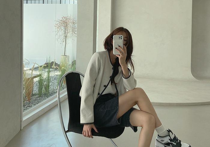 prostj-프레드 하프 데님 팬츠 (2colors)♡韓國女裝褲