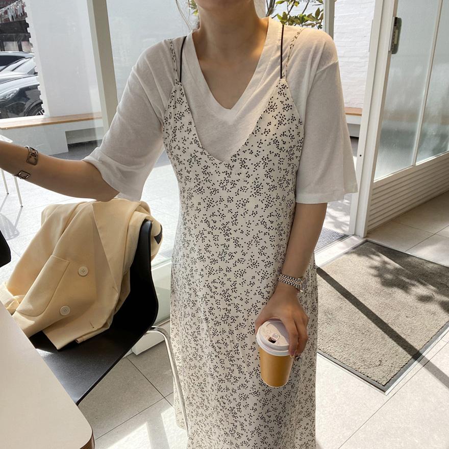 miamasvin-러브센스 브이넥 티셔츠♡韓國女裝上衣
