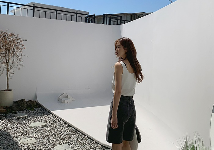 prostj-어닝 슬리브리스 탑 (4colors)♡韓國女裝上衣