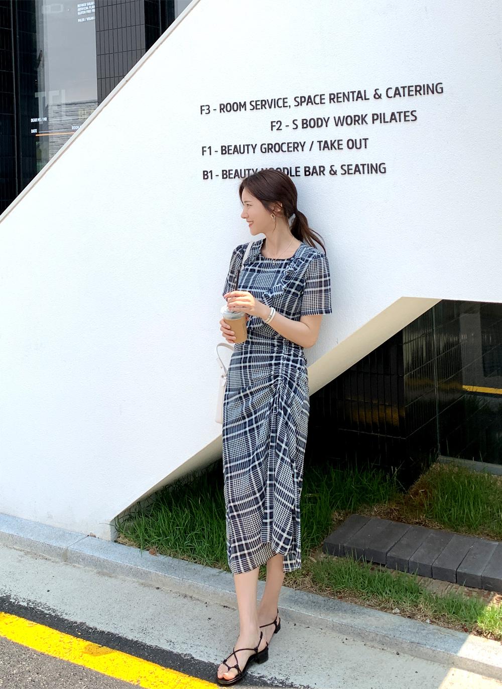 againby-[가니체크셔링 ops]♡韓國女裝連身裙