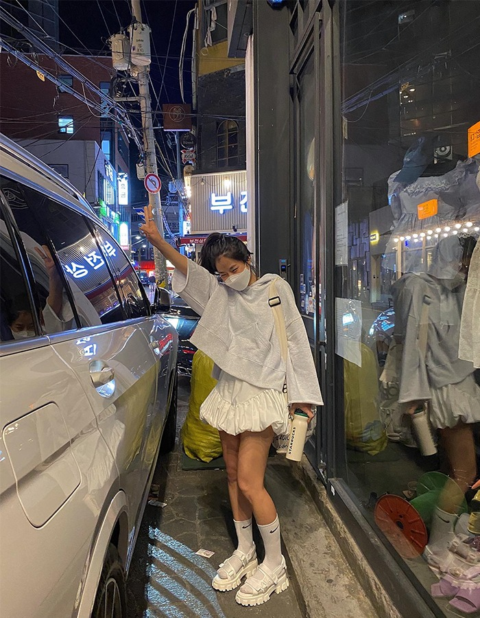 maymay-아리 셔링 치마바지♡韓國女裝褲