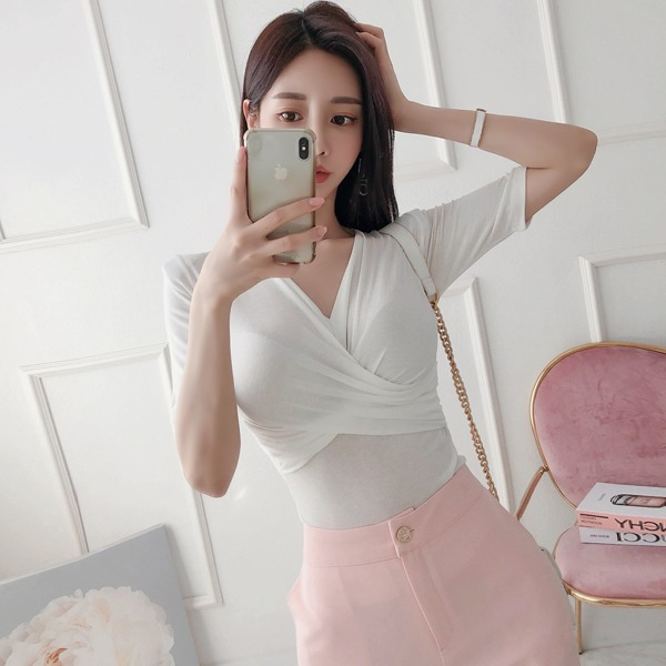 babinpumkin-모찌꿀떡 티셔츠♡韓國女裝上衣