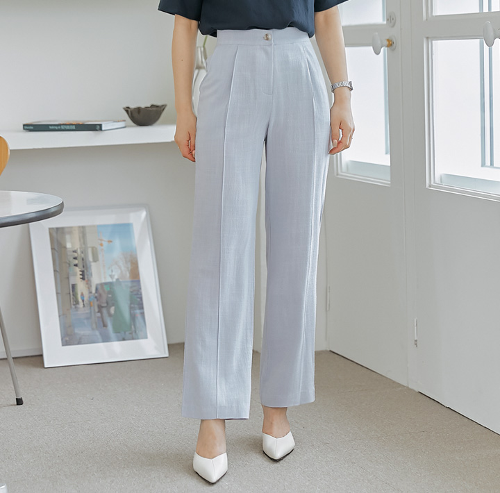 common-unique--트리엔 린넨 밴딩 팬츠♡韓國女裝褲