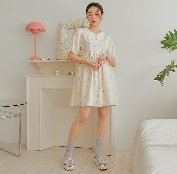 common-unique--리한 플라워 베이비 돌 미니 원피스♡韓國女裝連身裙