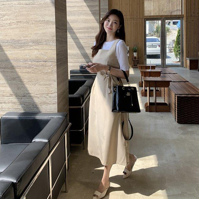likeher-마드렌 민소매 원피스ops:2color♡韓國女裝連身裙