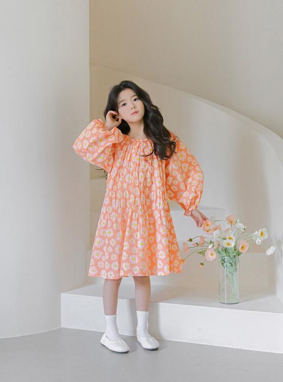 stylenoriter-[CBS] 리프 원피스.ops♡韓國童裝連身裙