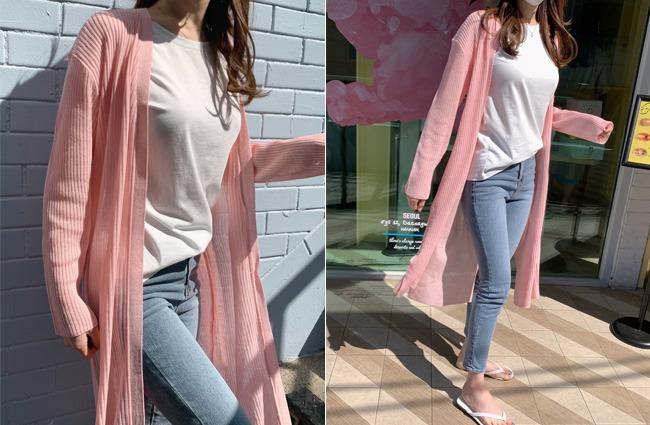 minsshop-(린넨혼방)디저트 골지 롱가디건 (주문폭주!)♡韓國女裝外套