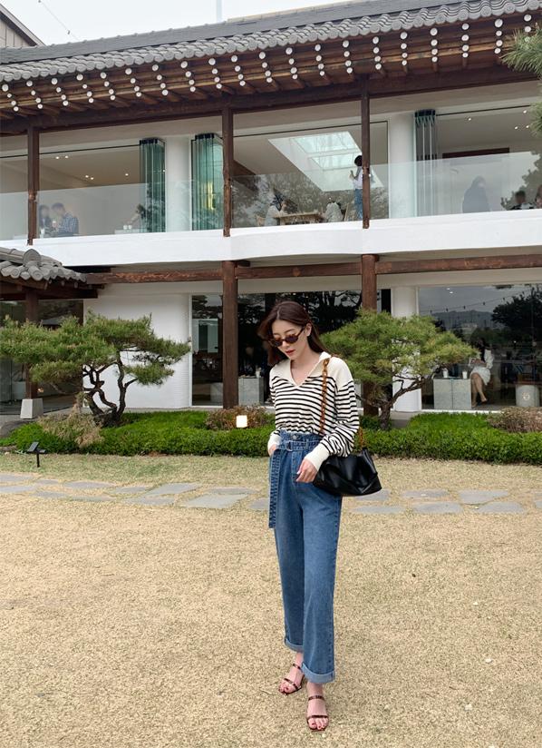 againby-[하이벨트데님 pants]♡韓國女裝褲