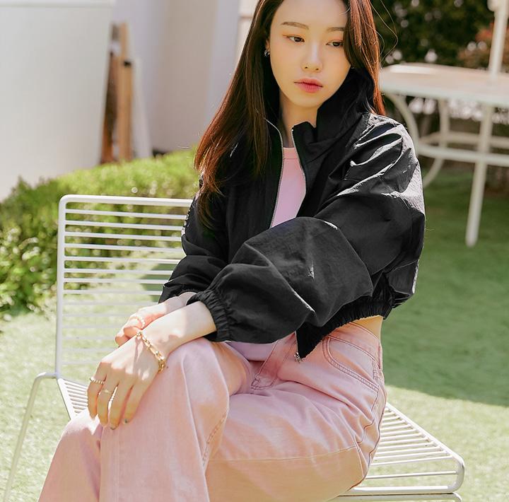common-unique--텐디 크롭 윈드브레이커 점퍼♡韓國女裝外套