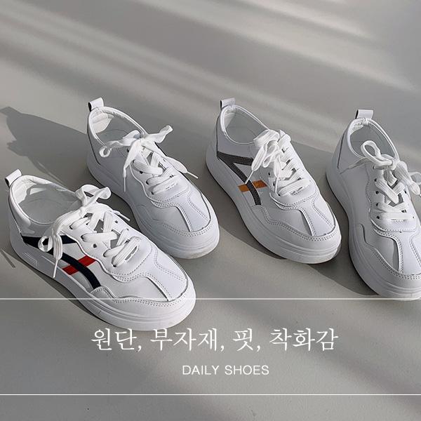 chicfox-발편한 플랫폼 스니커즈♡韓國女裝鞋