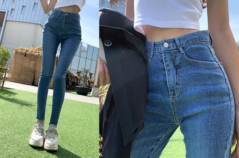 torishop-슬리밍베이직 스키니P♡韓國女裝褲