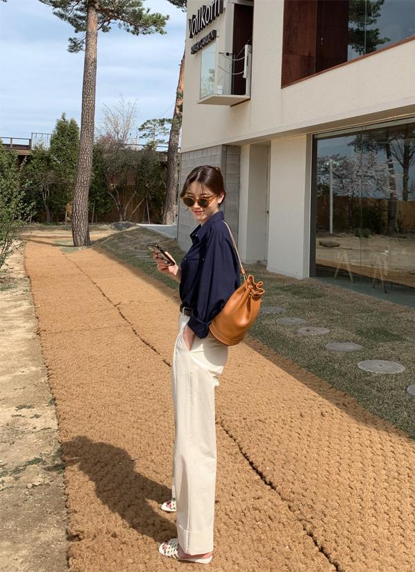 againby-[코튼롤업카브라 pants]♡韓國女裝褲