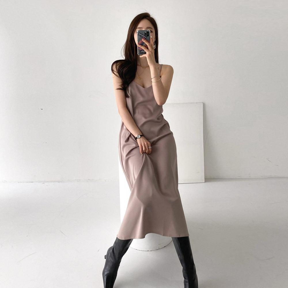 ppgirl-샤틴 끈 원피스ops H185♡韓國女裝連身裙