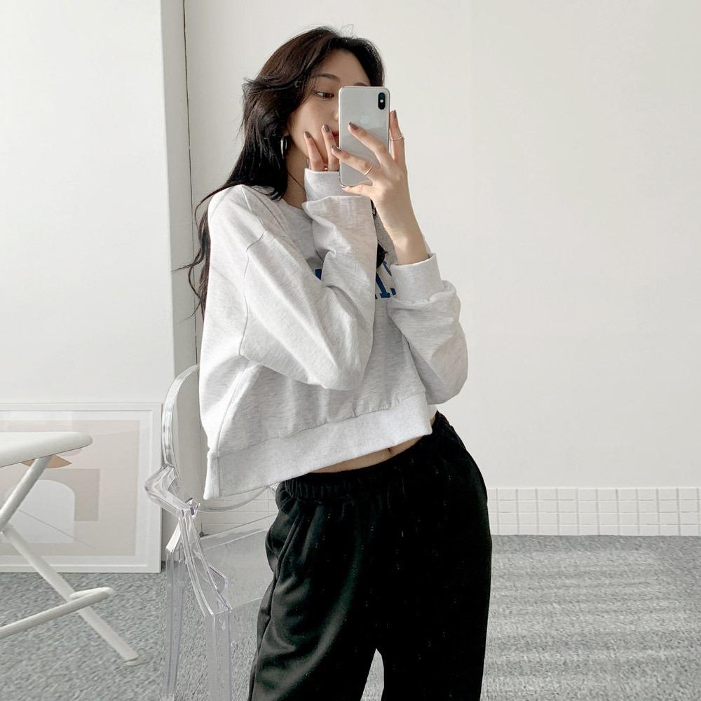 ppgirl-캘리포니아 크롭맨투맨mtm H194♡韓國女裝上衣