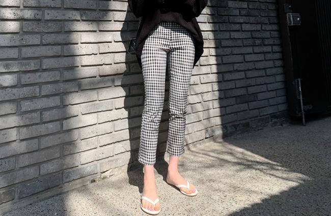 minsshop-(68.마약팬츠)핏예술 체크 팬츠 (주문대박♥)♡韓國女裝褲