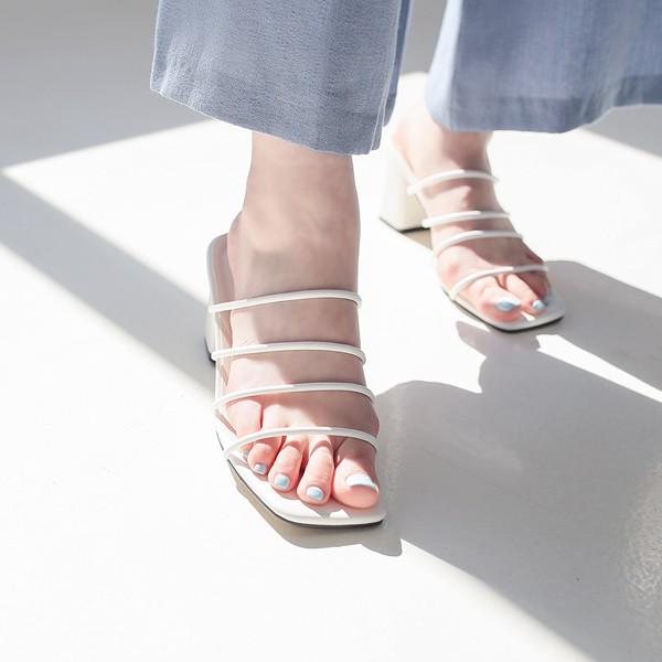ode-[트리플 라인 슬리퍼 힐]♡韓國女裝鞋