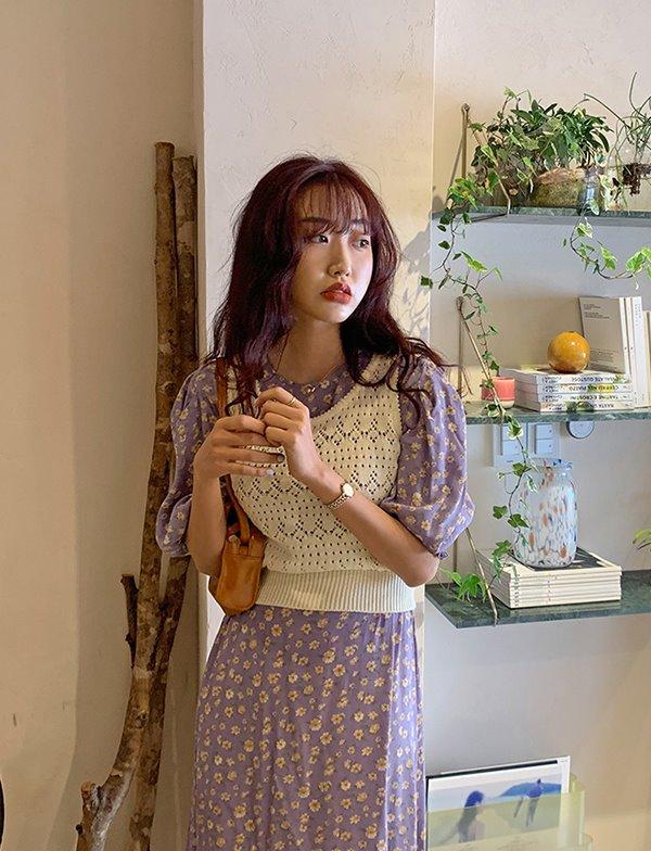 browncode-knit cami vest(ivory)♡韓國女裝上衣
