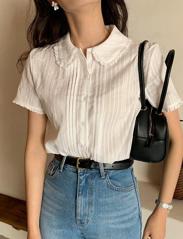 browncode-covy blouse♡韓國女裝上衣