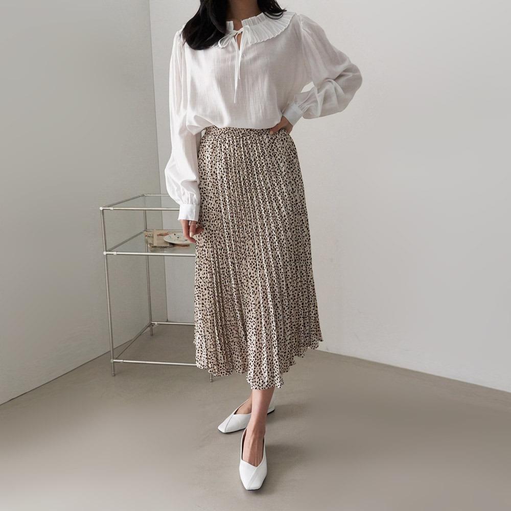 ppgirl-호피주름 스커트sk H186♡韓國女裝裙