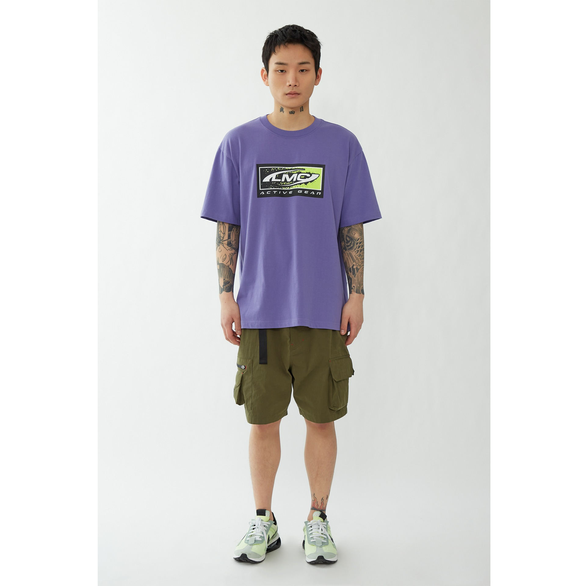 layer-LMC BOX ACTIVE GEAR TEE purple♡韓國男裝上衣