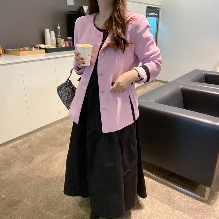 miamasvin-바셋 배색 자켓♡韓國女裝外套