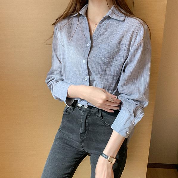 fashion-full-아더 포켓 셔츠♡韓國女裝上衣