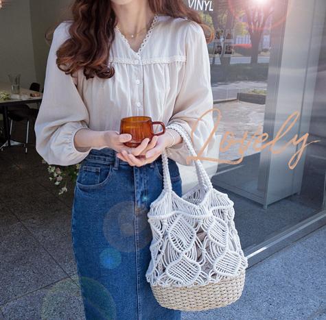 leelin-[크라임 나들이 가방]♡韓國女裝袋