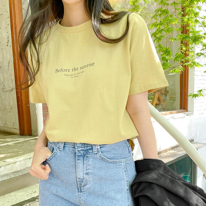 09women-[글리오 레터링 나염 티셔츠 58959]♡韓國女裝上衣