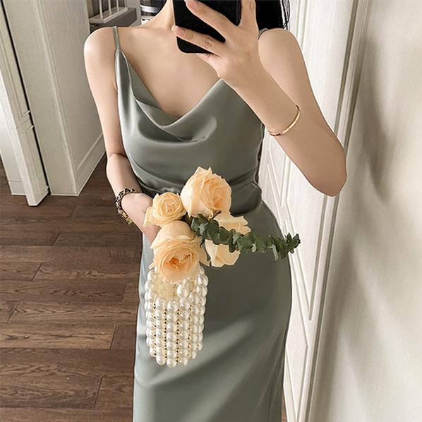 fashion-full-드레시 나시 스트랩 원피스♡韓國女裝連身裙
