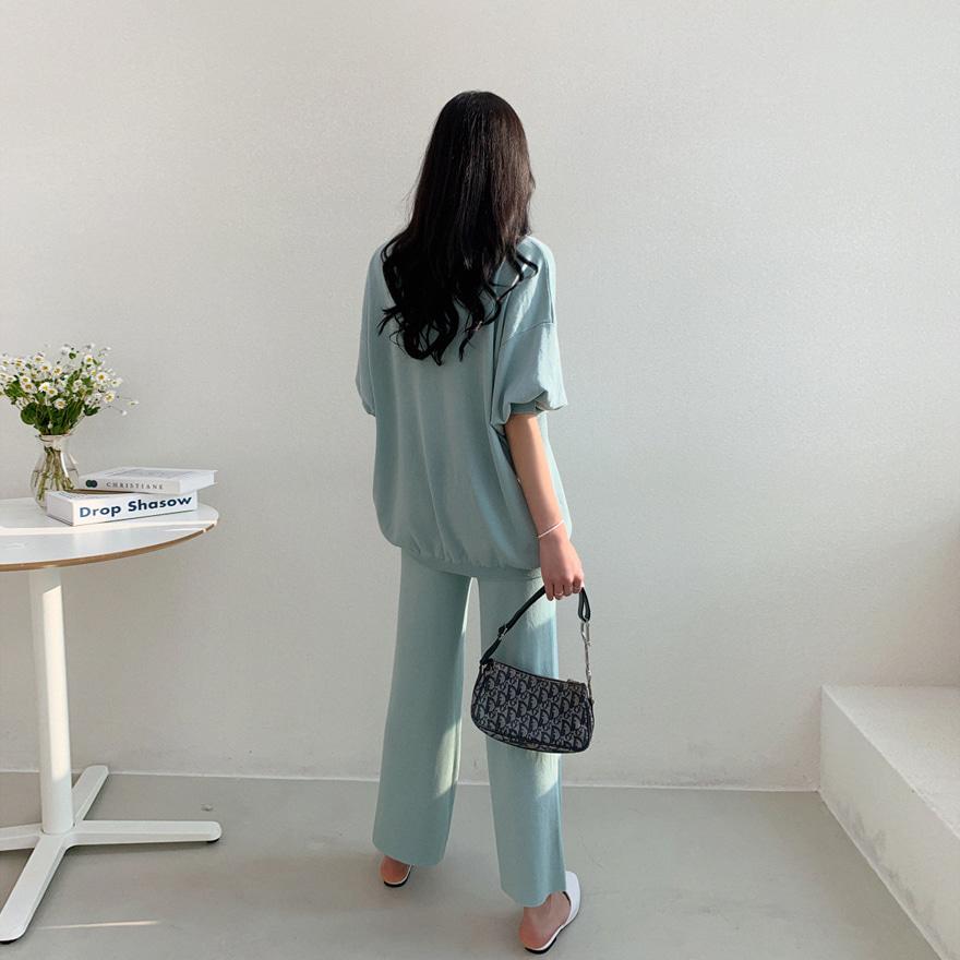 miamasvin-어디로 니트티 팬츠 세트♡韓國女裝套裝
