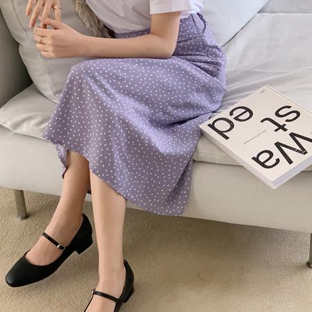 mimididi-[white dots♡ 스커트_3033]♡韓國女裝裙