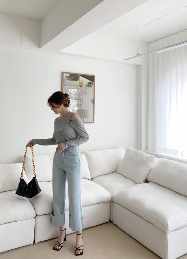 againby-[라잇와이드데님 pants]♡韓國女裝褲
