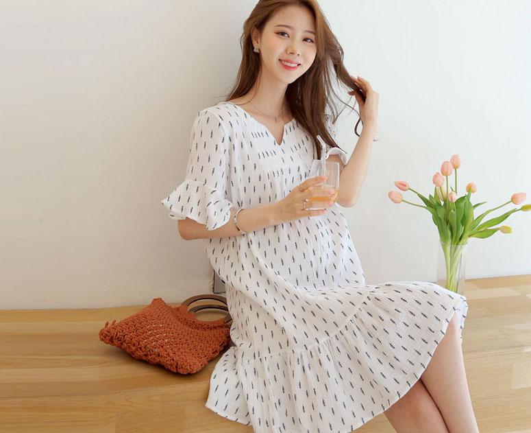 happy10-[임부복*너라서좋아 원피스 (반팔)]♡韓國孕婦裝連身裙