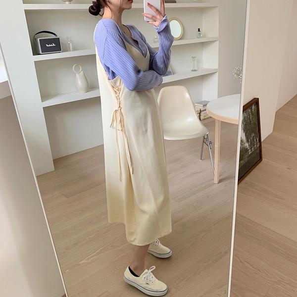 66girls-아일렛뷔스티에롱OPS♡韓國女裝連身裙