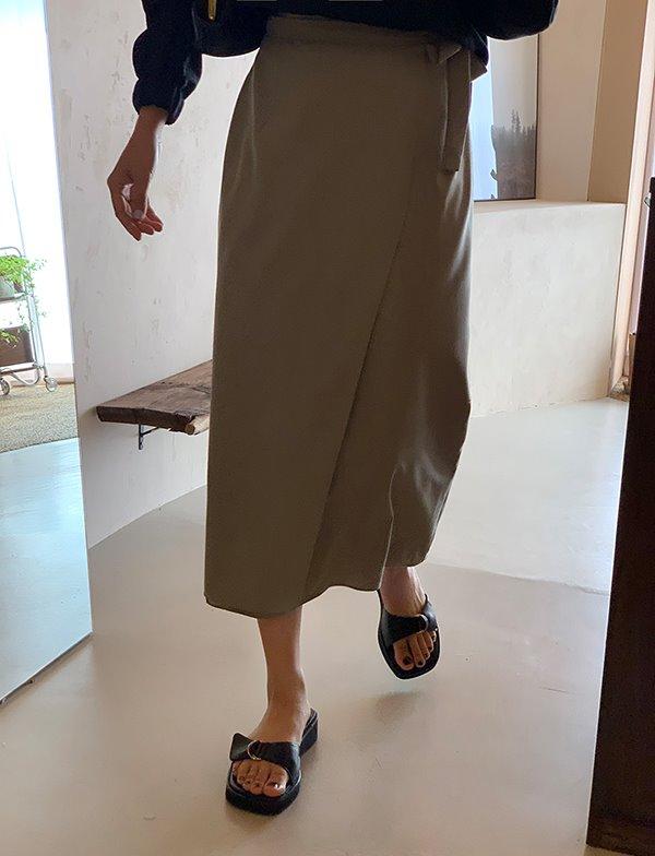 browncode-soho wrap skirt♡韓國女裝裙